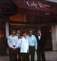 The original Café Roma. Joseph, Maria Rosa, Denis, Marco and Saro Rizzo